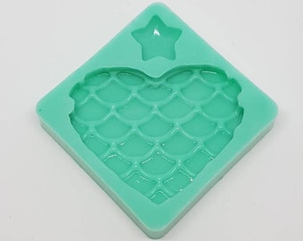 Silicone Mold Heart Siren/mermaid Heart Silicone Mold