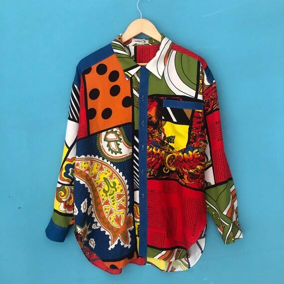 Vintage Kansai Yamamoto O2 Artwork Button Up shirt