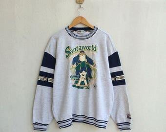 Vintage Santa World Sweatshirt Nice Design
