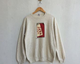 Vintage Sweatshirt Java Tea  Nice Design