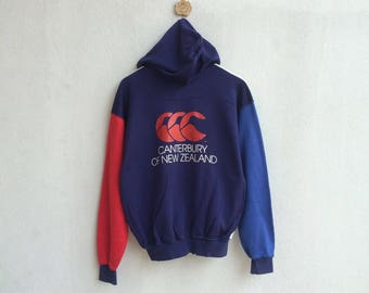 Vintage 90's Canterbury of New Zealand Zipper Jacket Hoodie Big Logo