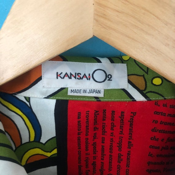 Vintage Kansai Yamamoto O2 Artwork Button Up shir… - image 10