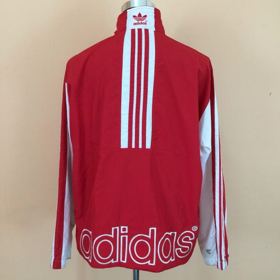 Vintage 90's Adidas Windbreaker Embroidery Spell Out Nice Design