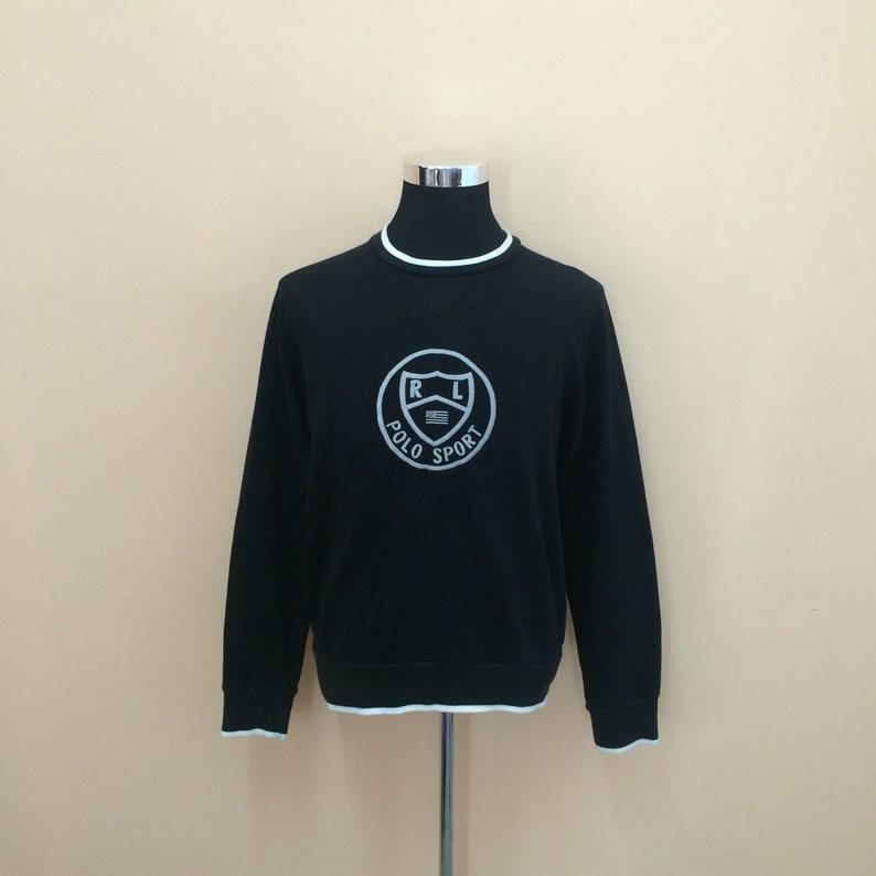 Nice Sport Ralph Big Vintage Lauren Embroidery Design Polo Sweatshirt 90's Spellout vNOn08ymw