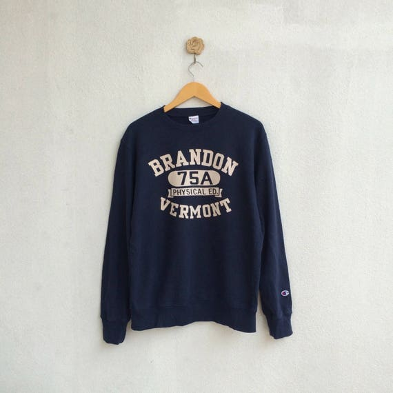 Vintage 90's Champion Sweatshirt Small Logo Nice Design