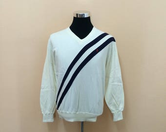 Vintage 90's Polo Ralph Lauren V-Neck Sweatshirt Nice Design 1lrAl2DXMr