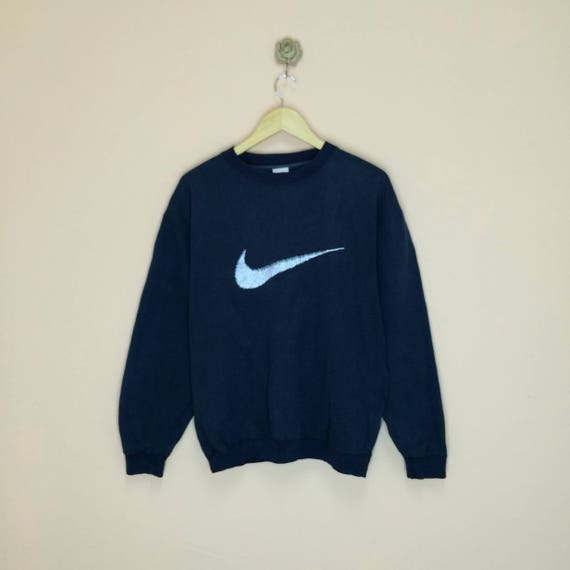 new style another chance lowest price Vintage des années 90 Nike Sweat grand imprimé Logo Design agréable / / Big  Nike Swoosh