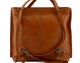 79e5acc307e5 MARIA Italian women leather shoulder bag convertible backpack shoulder  rucksack double inner compartment vegetable tanned leather purse