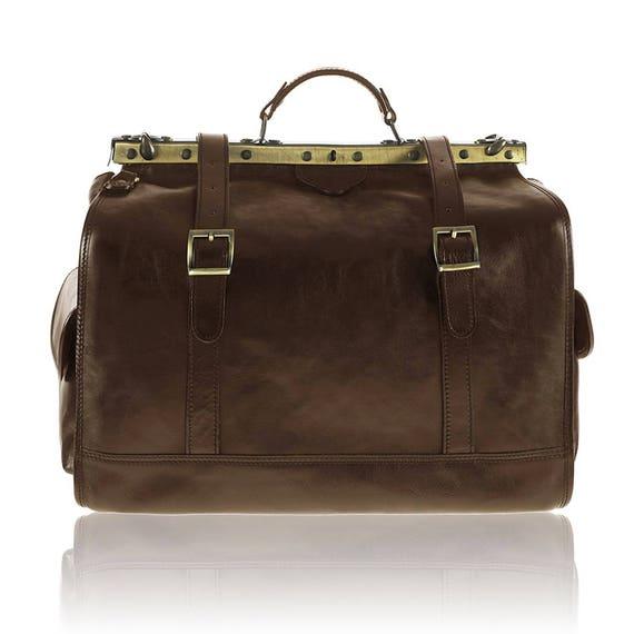 MICHELANGELO Italian large doctor bag travel duffel bag  071972094ba30