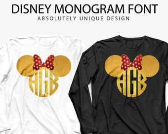 Disney monogram svg, monogram svg, Mickey Mouse Monogram SVG, Minnie Mouse Monogram Frames DXF, Clipart Files for Silhouette Cameo or Cricut