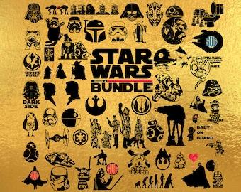 Svg bundle, star wars svg, star wars bundle svg, darth vader svg, star wars files svg, DXF, Clipart Files for Silhouette Cameo or Cricut