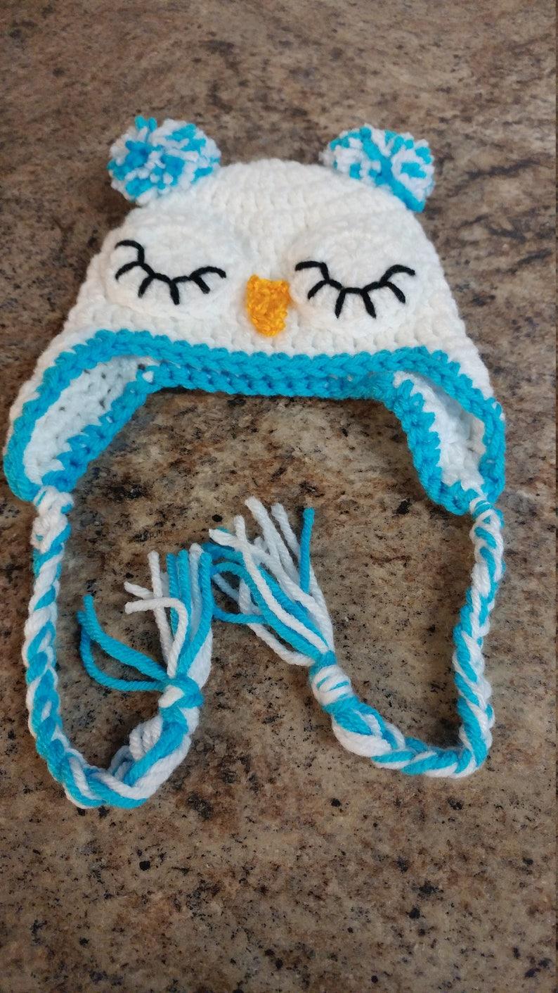 Baby Owl Hat Animal Hat Unisex Owl Hat Ear flap Hat Owl Earflap Hat Owl Hat Sleeping Owl Hat Crochet Owl Hat