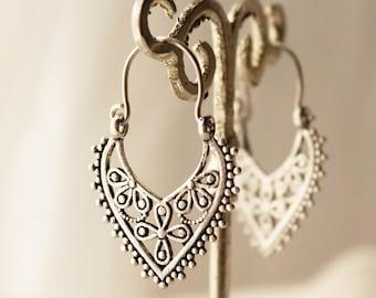 Boho earrings Bohemian earrings small silver earrings gypsy jewelry tribal  earrings boho jewelry ethnic accessories boho style earrings cute 41a0346ba1c45