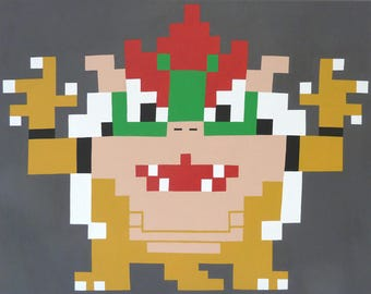 Bowser (2016) Original acrylic on canvas painting 20x16 inches