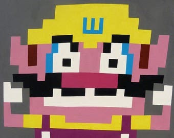 Wario (2016) Original acrylic on canvas painting 12x12 inches