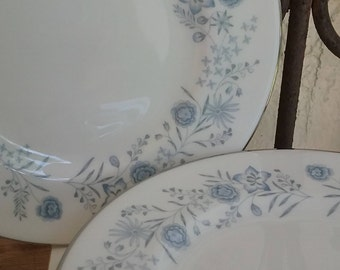 5 Wedgwood Belle Fleur Bread and Butter Plates- 1960 Vintage