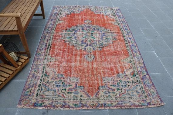 Antique Rug Oushak Rug,Living Room Rug Oriental Rug H- 6743 Muted Rug Vintage Rug Muted Rug Turkish Rug 5.2x8.7 feet Salon Rug