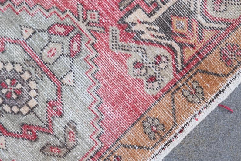 Home Decor Rug 1.8x3.2 ft Old Rug Oushak Rug Turkish Rug Oriental Rug Decorative Rug Vintage Rug AO-5946 Small Rug Antique Rug