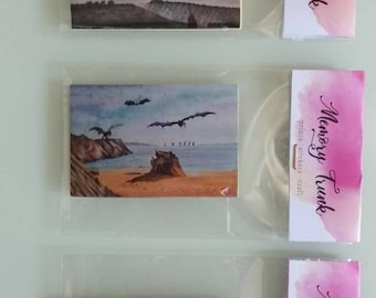 Magnet dragons, fridge magnets, inspired by Game of Thrones beach
