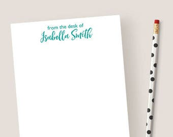 Beautiful More Colors. Personalized Notepad From The Desk ... Design Inspirations