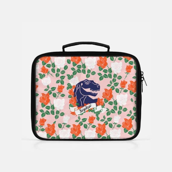 Dinosaur Lunch Box Personalized Lunch Box Monogram Lunch Bag Lunch Box For Girls Lunch Bag Insulated Cute Lunch Box Reusable Lunch