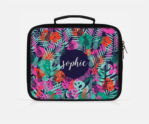 3864e47869e1 Tropical Lunch Box, Pineapple Lunch Box, Custom Lunch Bag, Lunch Bag for  Women, Cute Lunch Box, Adult Lunchbox, Monogrammed Lunchbox,