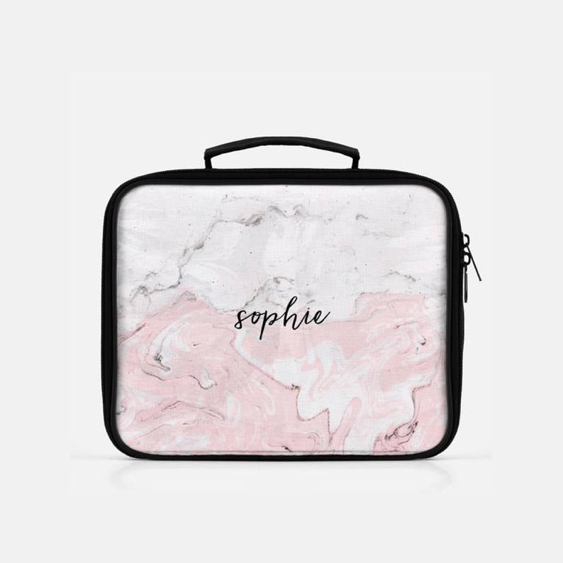7939b2decb76 Marble Lunch Box, Personalized Lunch Bag, Pink Lunch Box, Graduation Gift  Personalized, Cute Lunch Box, Lunch Box for Women, Lunch Box Adult