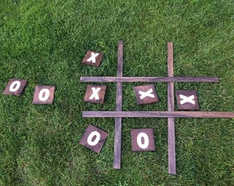 Handmade Wood X's and O's Lawn Game (6 colour options!)