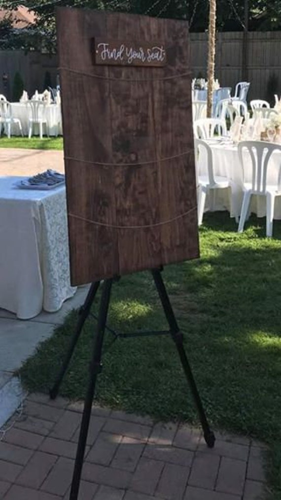 Wood Pallet with String Seating Chart 2 size options - 5 stain colour  options