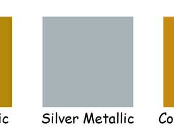 """1 ~ 12""""x5' Roll Oracal 651 Metallics ~ Permanent Adhesive ~ Rolled to Ship ~ PICK from 3 COLORS ~ Gold, Silver, Copper ~ Waterproof"""