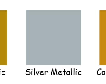 """10 ~ 12""""x12""""' Sheets that are Rolled to ship ~ Oracal 651 Metallics ~ Permanent Adhesive ~ Mix or PICK from 3 COLORS ~ Gold, Silver, Copper"""