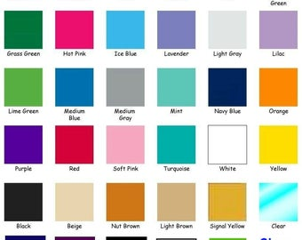 """10 ~ 12""""x24"""" Sheets/Rolls Oracal 651 ~ Permanent Adhesive ~ Rolled to Ship ~ YOU PICK from 35 COLORS ~ Sign & Decal Vinyl ~ Waterproof"""