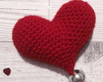 Heart Cat Toy - Valentines Gift - Catnip Toy - Crochet Heart - Valentine Cat Toys - Cat Lover - Valentines Day Gift - Cat Toys - Hearts