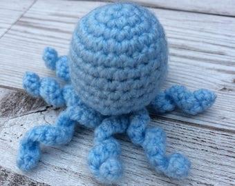 Crochet Octopus - Catnip Toys - Cat Toy - Cute Cat Toys - Blue Cat Toys - Crochet Cat Toys - Catnip Toy - Handmade Cat Toy - Catnip Cat Toy