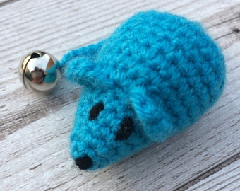 Cat Toy - Catnip Mouse - Mouse Cat Toys - Cute Cat Toy - Crochet Cat Toys - Blue Cat Toys - Cat Toys - Catnip Cat Toys - Catnip Toys - Cats