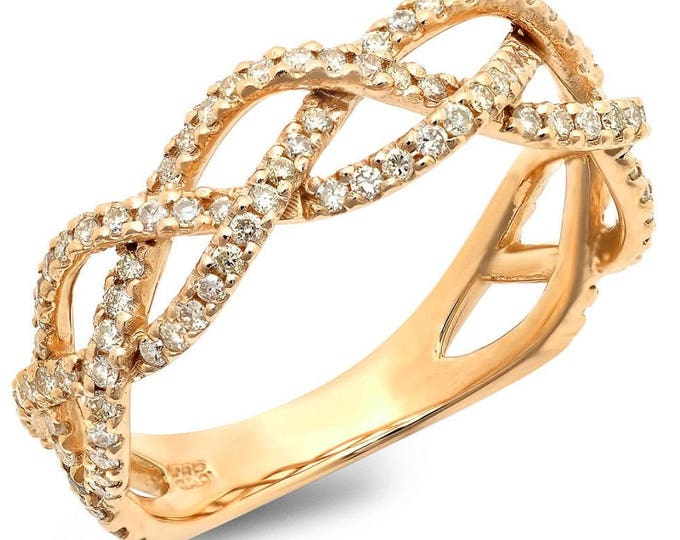 Open Braid Diamond Band Ring