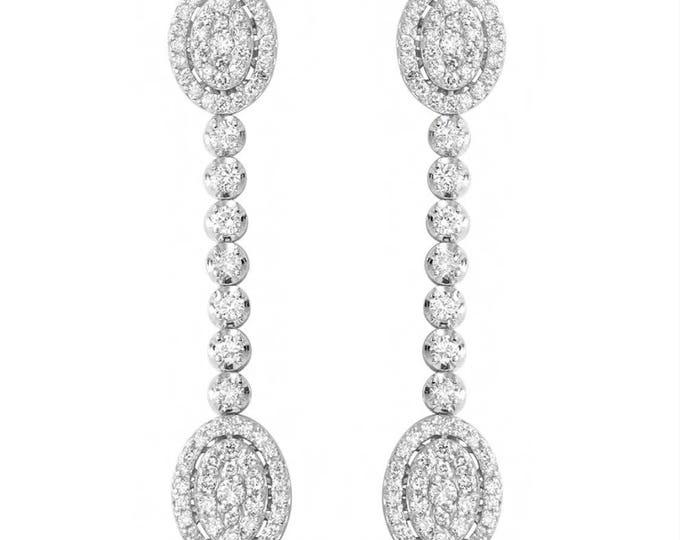 Dangle and Drop Diamond Earrings