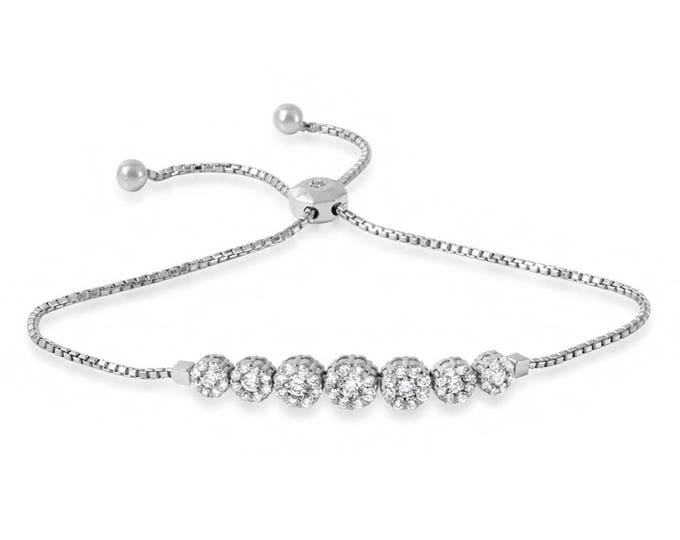 Round Charm Box Chain Bracelet