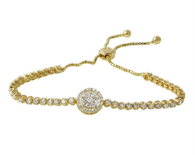Round Pendant Charm Bracelet