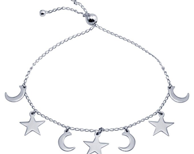 Crescents and Stars Charms Bracelet