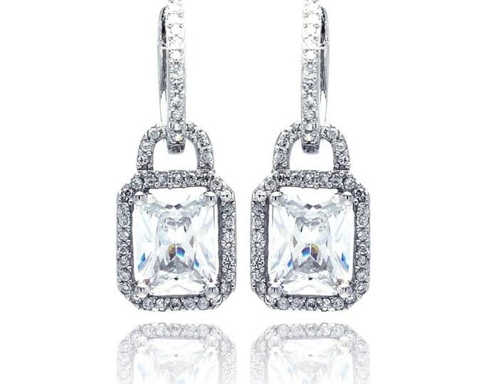 Huggie Dangling Diamond Earrings