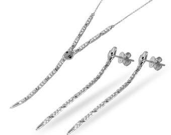 Jewelry Sets, Jewelry, Rings, Snake Jewelry, Snake Earrings, Snake Lariat, Snake rings, snake Jewelry set, Lariat Necklace, Snake Necklace