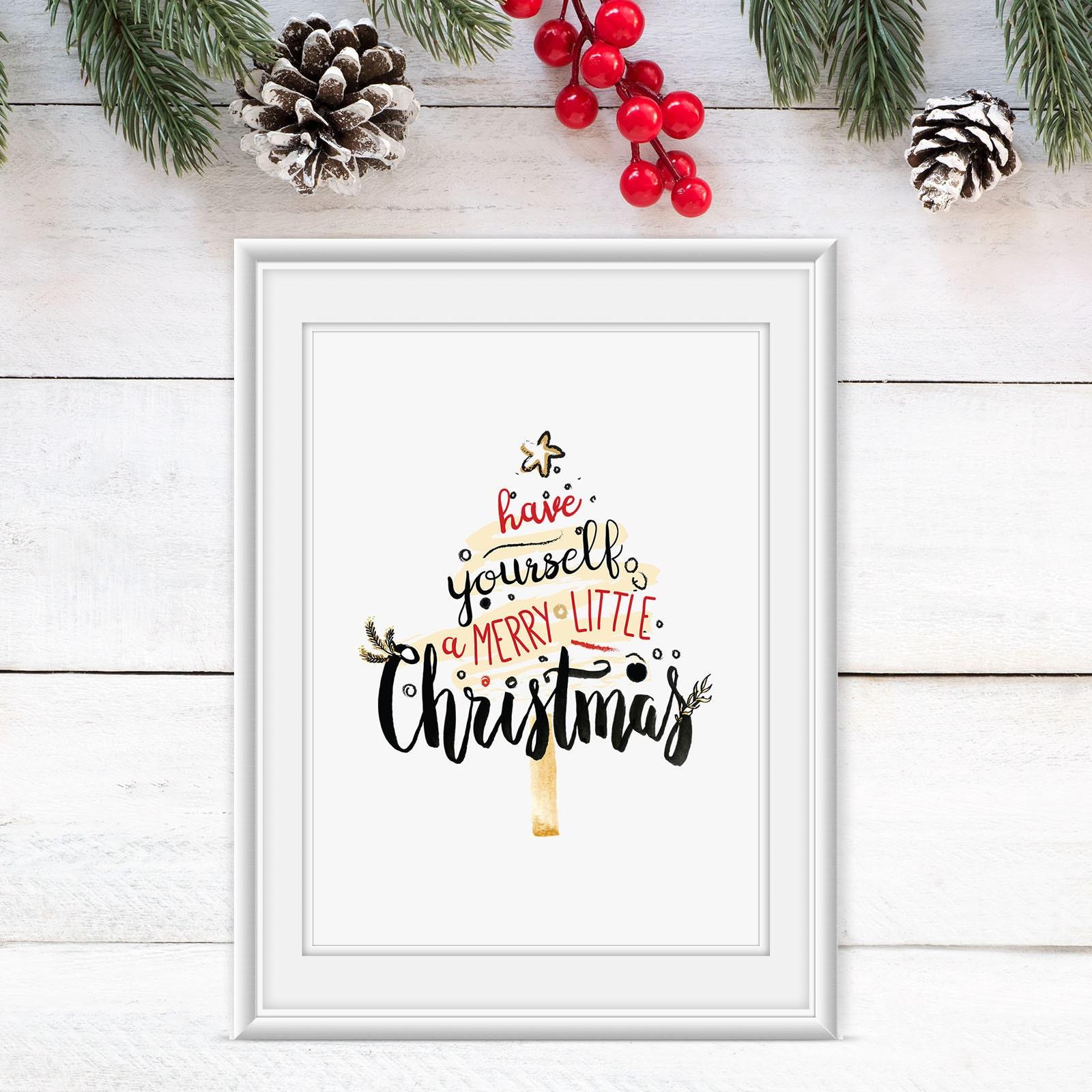 Christmas Wall Art Print Holiday Printable DIY Decor | Etsy