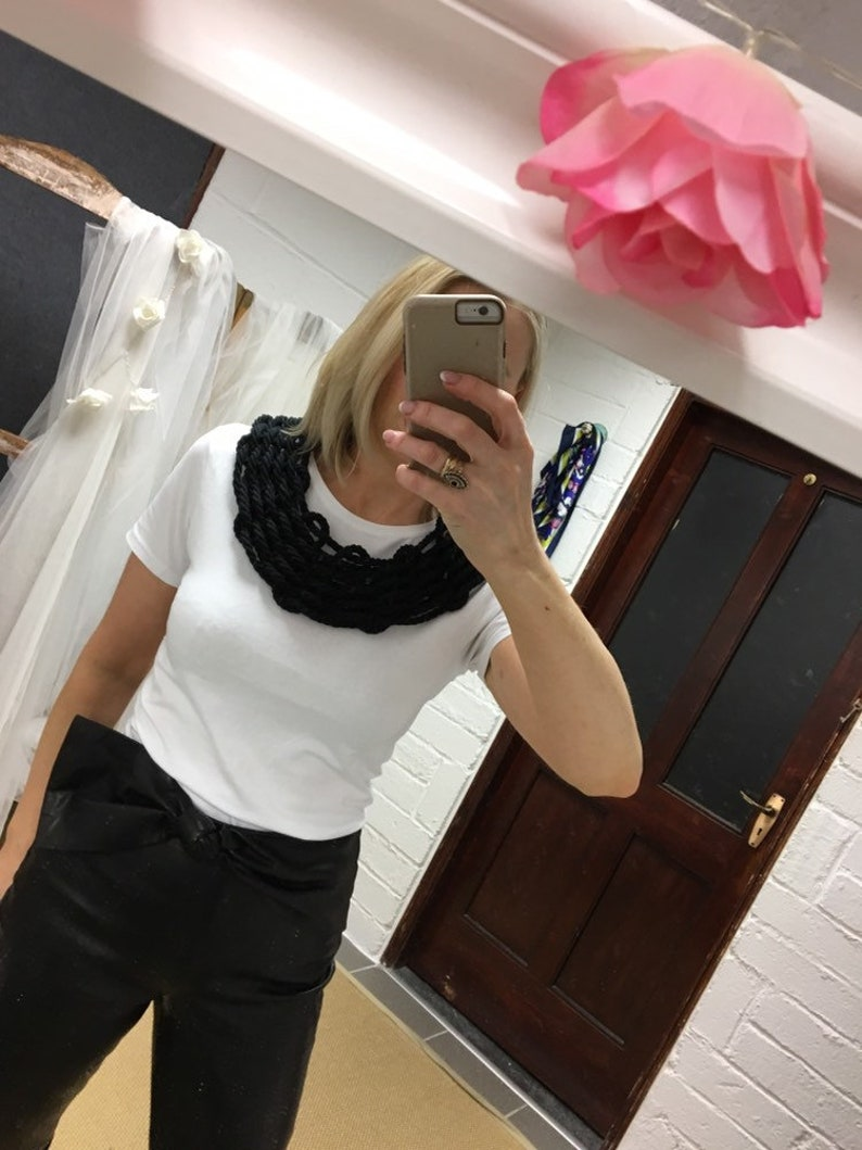 Black /'Jones/' multistrand necklace
