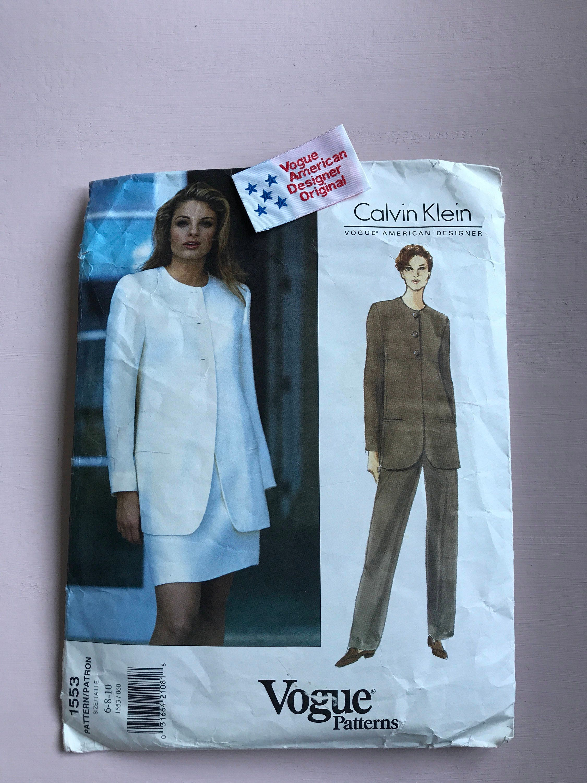 Vogue 1553 Calvin Klein American Designer 1990\'s jacket skirt ...