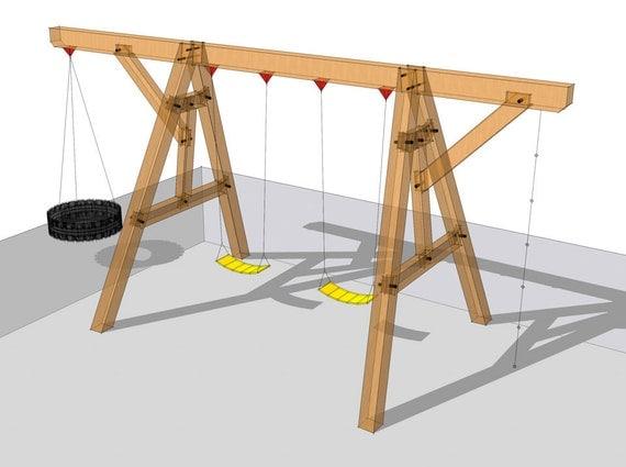 Wooden Swing Set Plan