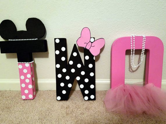 Minnie Mouse Letters Birthday