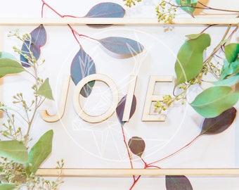 Cards - joy - floral card - framed message