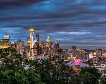Seattle Night Skyline for Kerry Park