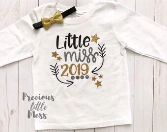 e090837c6097 Little Miss 2019 Shirt, New Years Eve Shirt, First New Years Eve Outfit  Girl, Baby Girl New Years Shirt